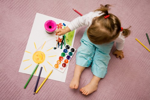 January weekday events kid painting DP