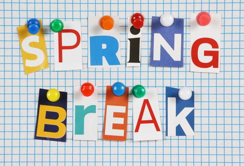 April weekday events spring break DP